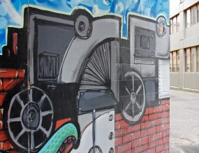 Part of the Pirates street art collective mural / Lukes Lane