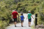 On the home stretch of the walkway back to the main visitor area at Te Puia