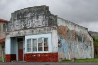 1929 architecture, a butcher's shop I think, adorned with a now-faded mural