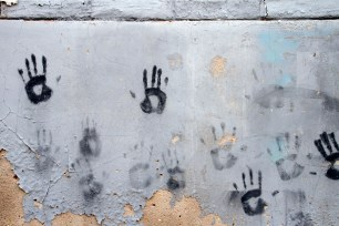 Handprints in a hutong