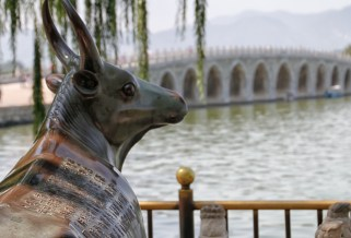The Bronze Ox, a symbol of protection against floods