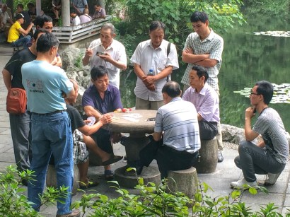 Card game in Peoples Park