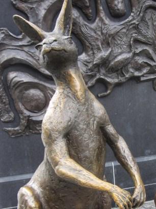 Kangaroo sculpture in King George Sq