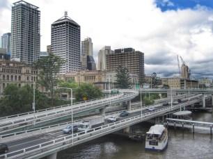 Downtown Brisbane from Victoria Bridge