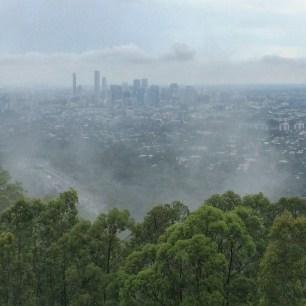 Brisbane from Mt Coot Tha
