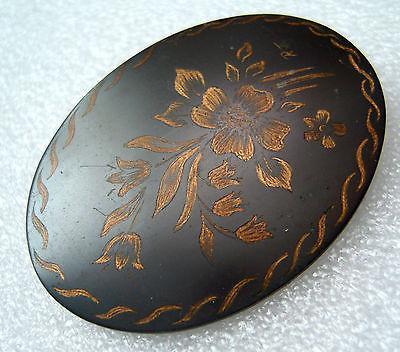 Vintage 1950s enamel on copper pin / brooch # 3