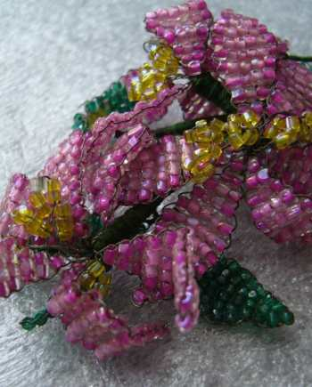 Seed beads weaving flower