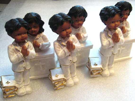 Lot of 6 vintage chorus children praying figurines