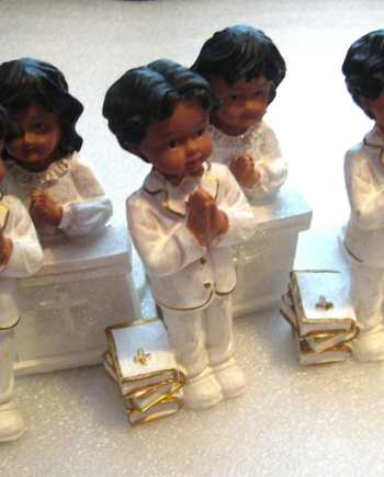Lot of 6 vintage chorus children praying figurines