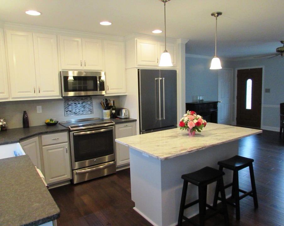 Lovely Frederick kitchen remodel with a beverage station ... on Modern:gijub4Bif1S= Kitchen Remodel  id=99440