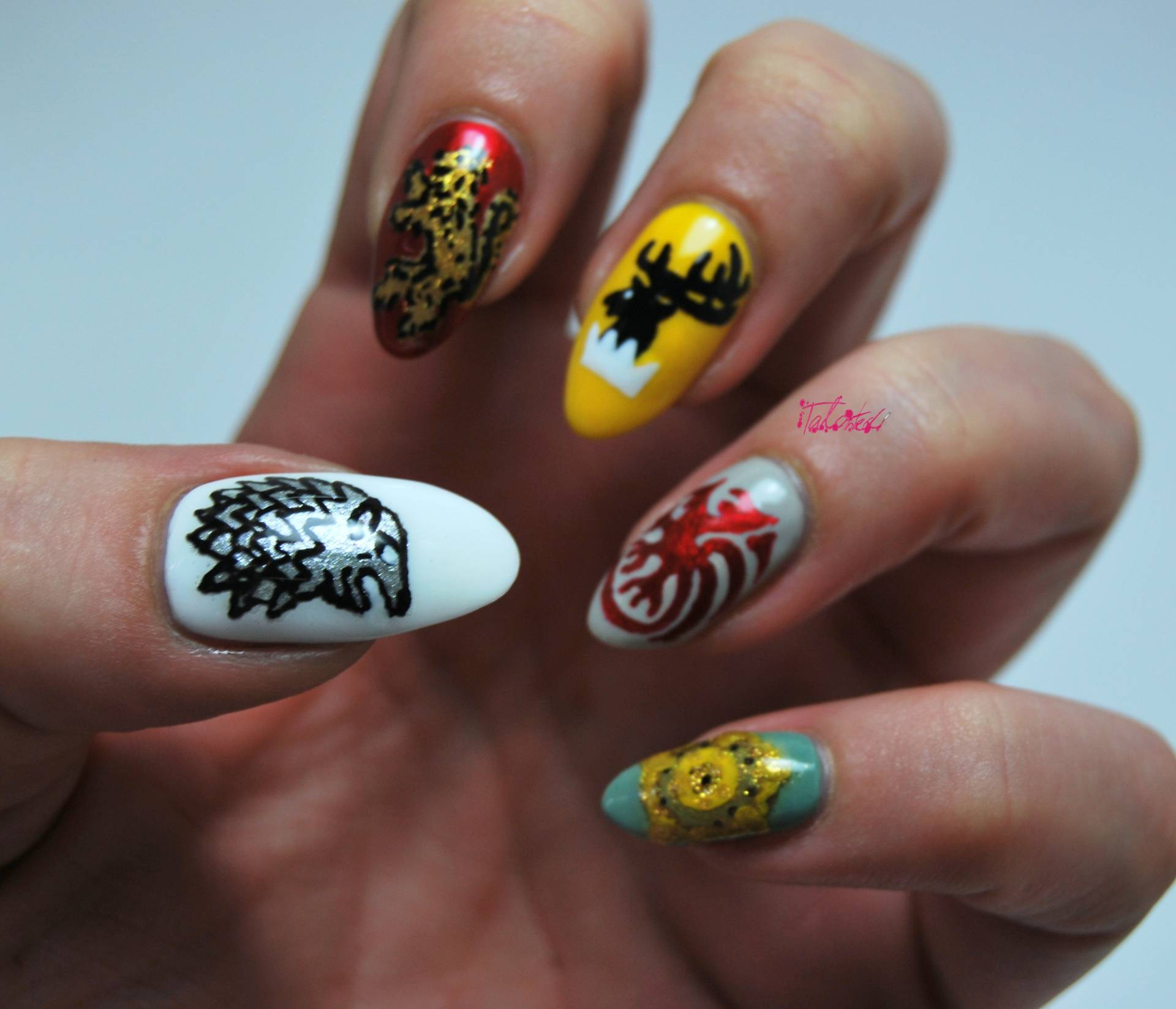 Game Of Thrones Nail Art - talonted lex