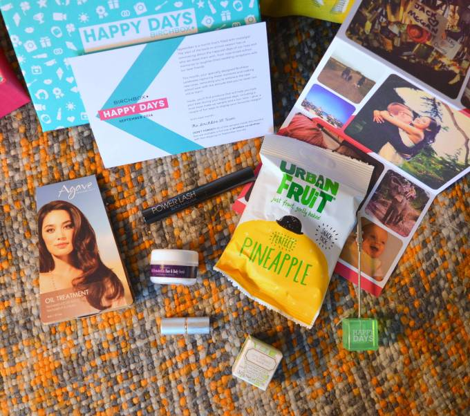 September Birchbox Happy Days