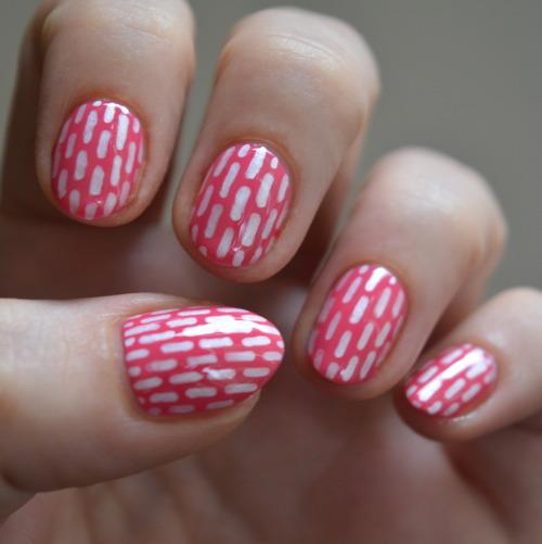 stripe nail art using Sally Hansen