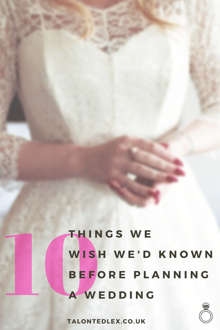 10 things we learned after planning a wedding