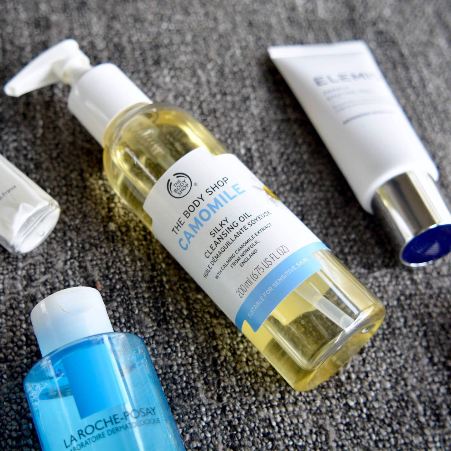 Skincare Shake Up, October 2016: All of the skincare I've been using recently that helps my sensitive skin and rosacea. The Body Shop Camomile Cleansing Oil.