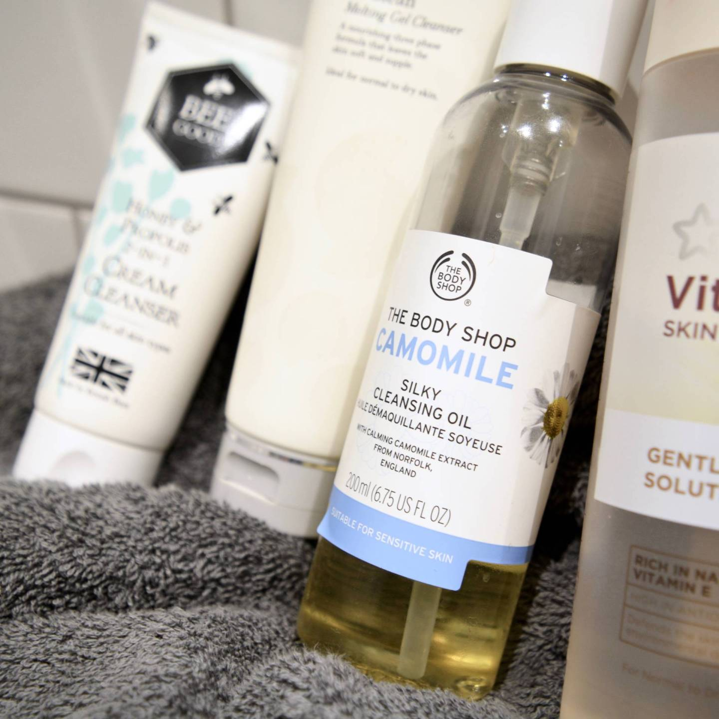 5 best budget cleansers for sensitive skin - The Body Shop Camomile Silky Cleansing Oil // Talonted Lex