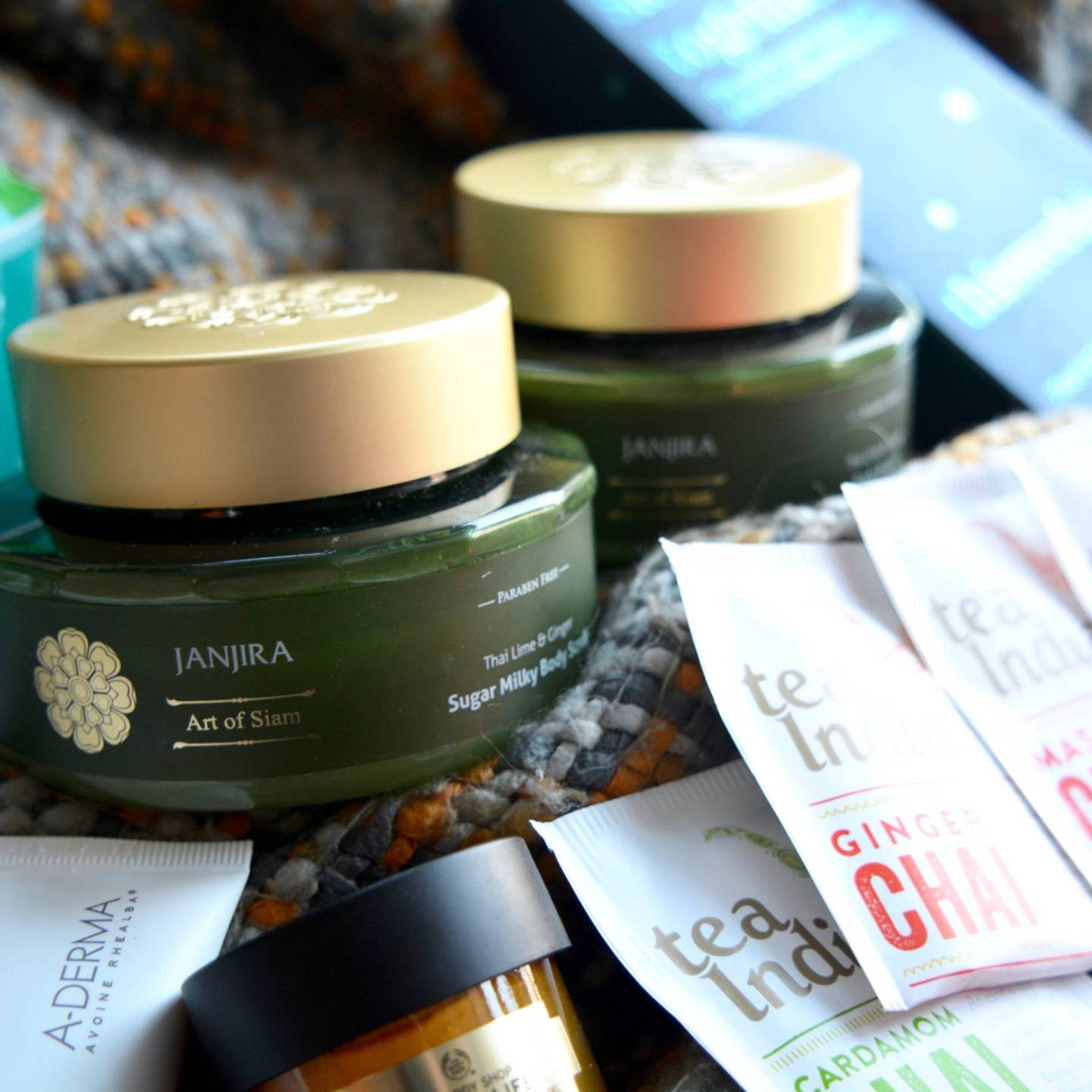 Winter pamper - The Janjira Thai Lime and Ginger body scrub and body butter are the perfect way to get smooth skin with a lingering luxurious scent