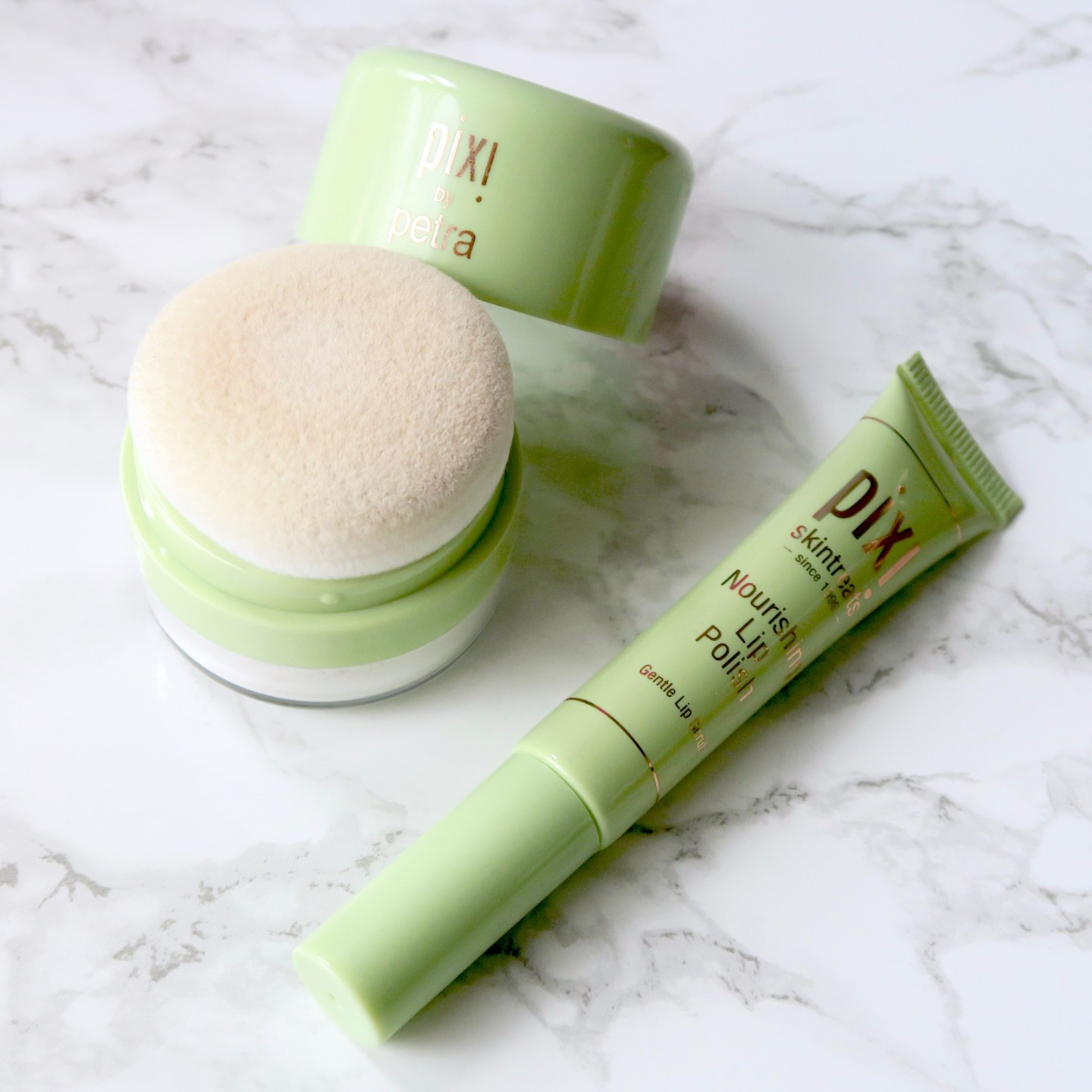 Friday Faves - Pixi Quick Fix Powder and Nourishing Lip Polish