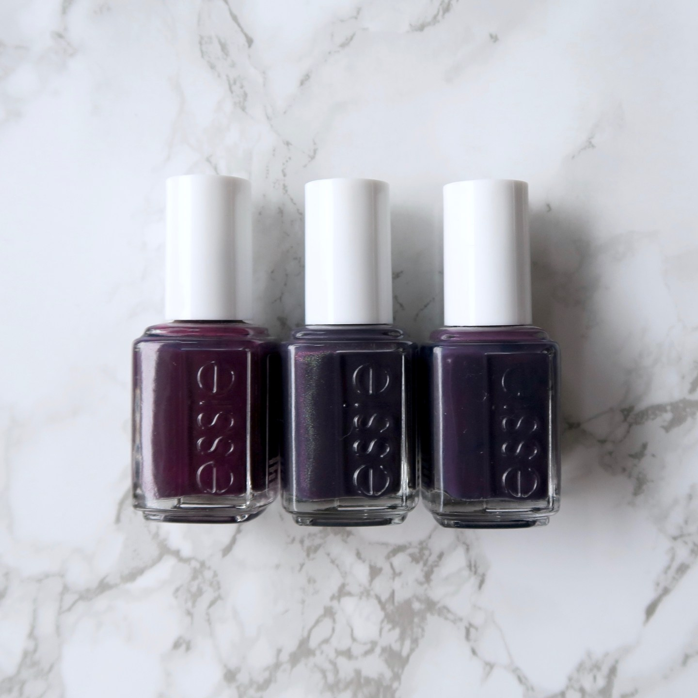 Essie Fall 2017 collection - Dress To The Nineties, comparison to similar essie polishes