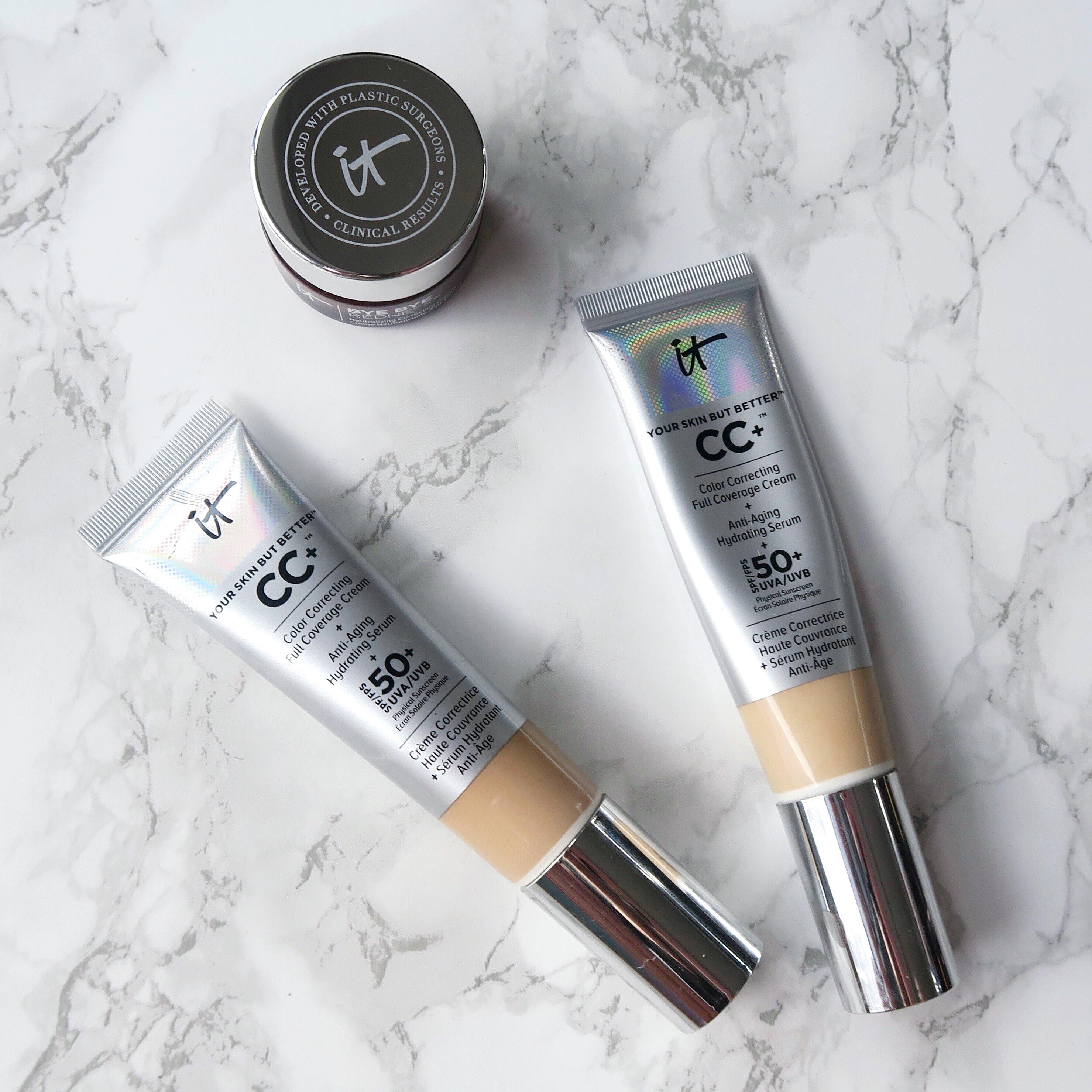 IT Cosmetics foundation comparison: CC+ Cream vs Bye Bye Redness