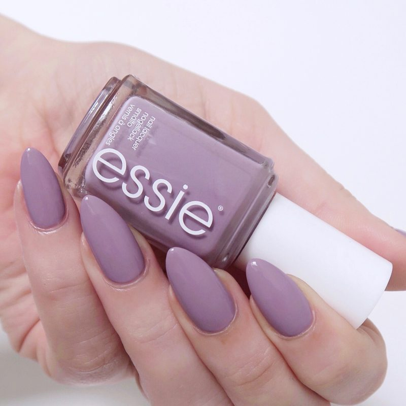 My favourite winter polishes - essie 'ciao effect', a gorgeous grey-lilac that's a modern twist on a pastel.