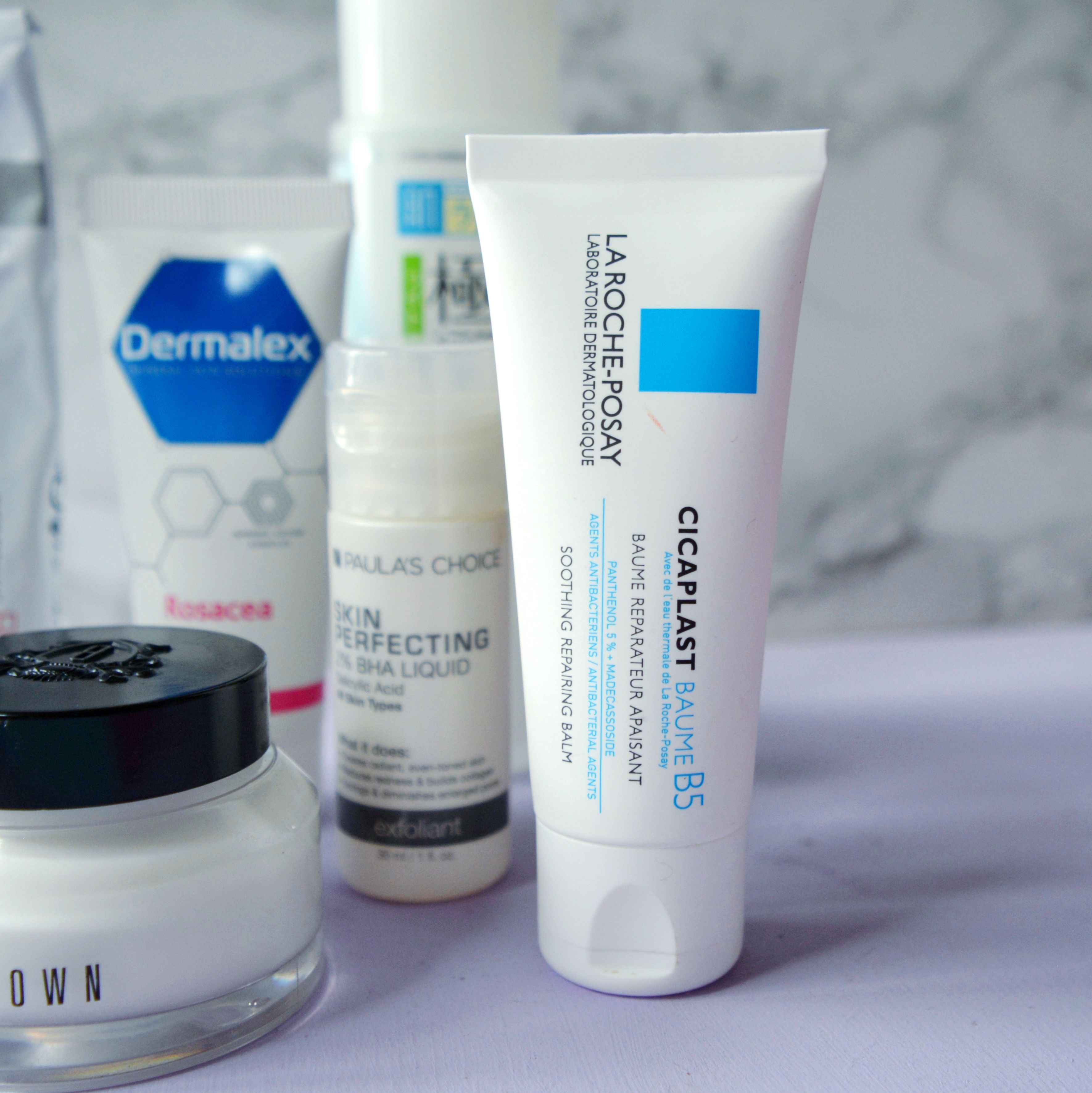 La Roche Posay Cicaplast Baume B5. Skincare routine for sensitive skin, rosacea prone skin. More skincare advice and skincare tips on the blog.