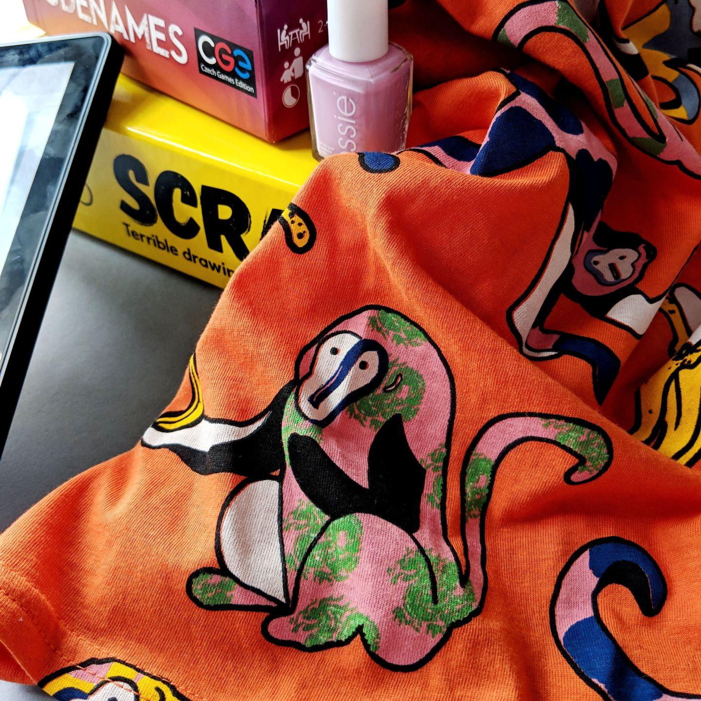 Bershka monkey tee shirt, pattern fashion