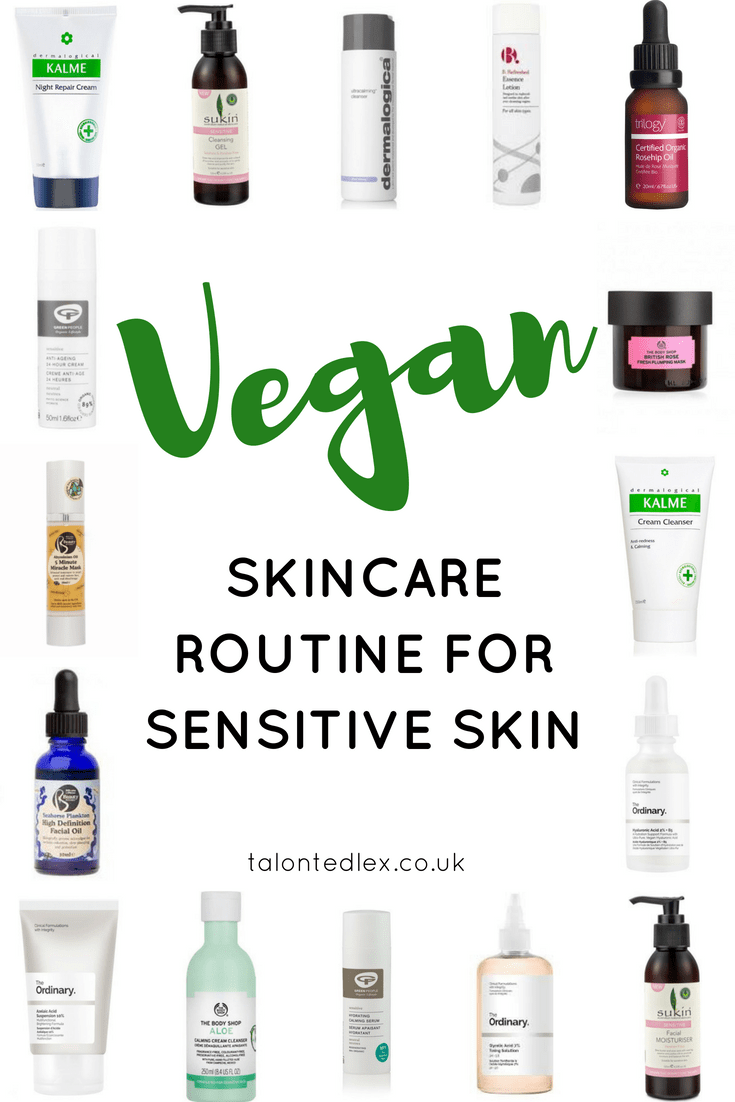 Vegan skincare for sensitive skin - skincare advice for rosacea