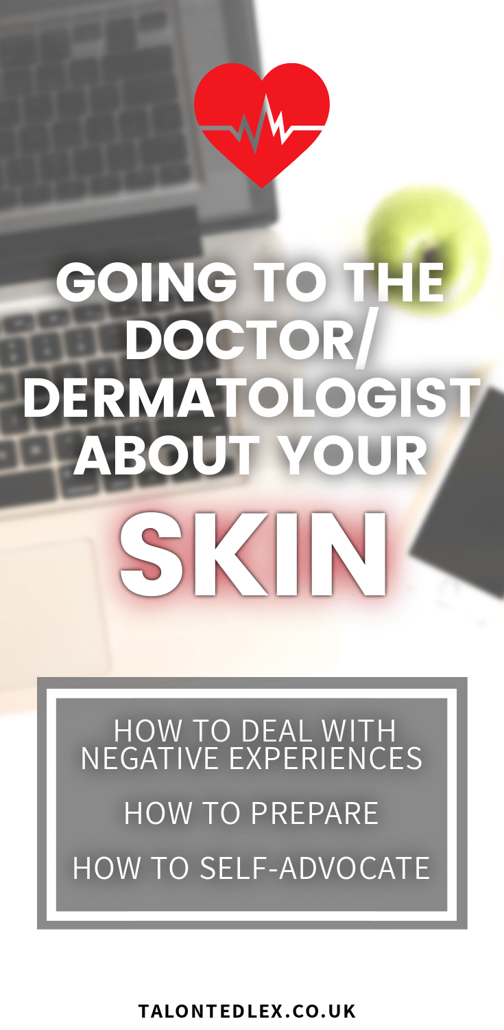 Worried about talking to your doctor or dermatologist about your skin? I've got you covered! I'm giving tips on preparing for your appointment, how to deal with negative experiences, and how to self-advocate. Your health is important and your skin issue is not trivial. I'm giving rosacea advice, and tips for those with any skin condition. #talontedlex