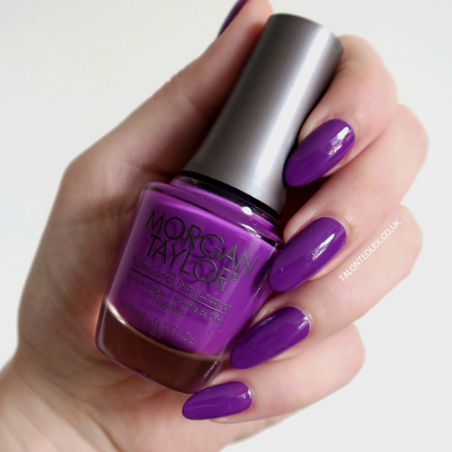 Repin and click to see the full Morgan Taylor Rocketman collection, including 'Just Me & My Piano' - a purple creme polish. New Morgan Taylor nail polish range. #talontedlex #morgantaylor #purplenails