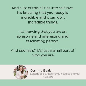An interview with Gemma Boak, a lifetime psoriasis warrior and immunology specialist. We talk about skin positivity, how to deal with bad days, and how the medical community can help. How to help psoriasis, psoriasis tips. #talontedlex #psoriasis #psoriasisgeek #psoriasistips