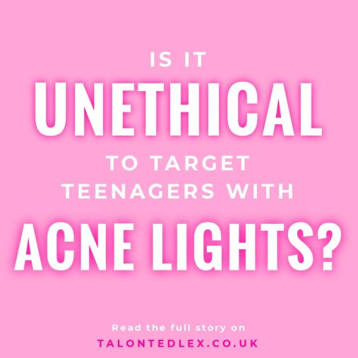 Is it unethical to use 'acne lights' to discourage teenagers from loitering? I'm sharing my thoughts on the blog. Councils and businesses in the UK are using these 'acne lights' to target young people with skin conditions. Is it a human rights issue? #talontedlex #skinpositivity