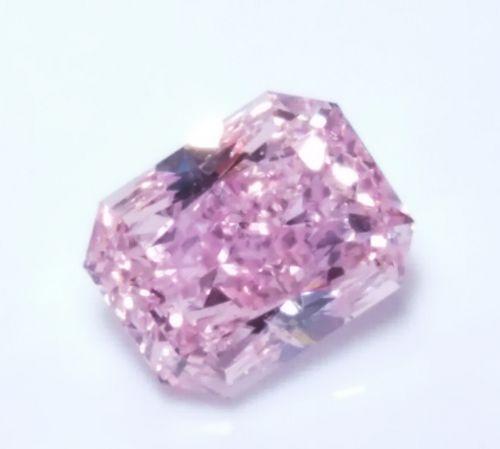 Pink Diamond - 0.51ct Natural Loose Fancy Intense Purple Pink GIA Cert Radiant
