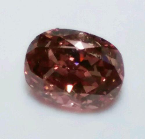 0.22ct Pink diamond - Natural Loose Fancy Deep Orangy Pink GIA Diamond Oval VS1