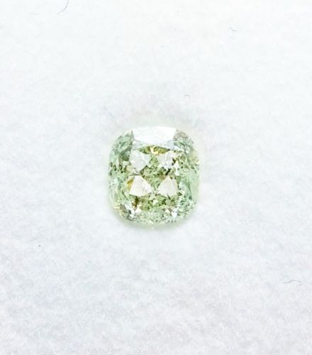 0.42ct Green Diamond - Natural Loose Fancy Light Green Diamond Cushion GIA Real