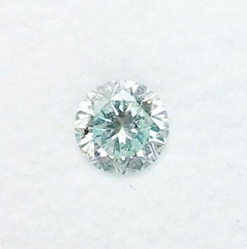 0.14ct Natural Loose Fancy Light Green Color Diamond GIA Certified SI1 Round
