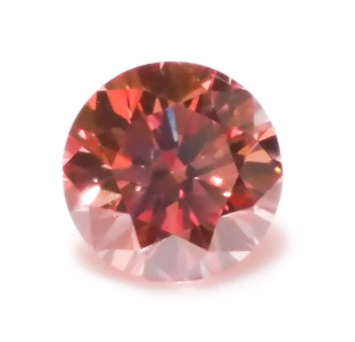 Pink Diamond - 0.22ct ARGYLE Natural Loose Fancy Orangy Pink Color GIA Round VS2