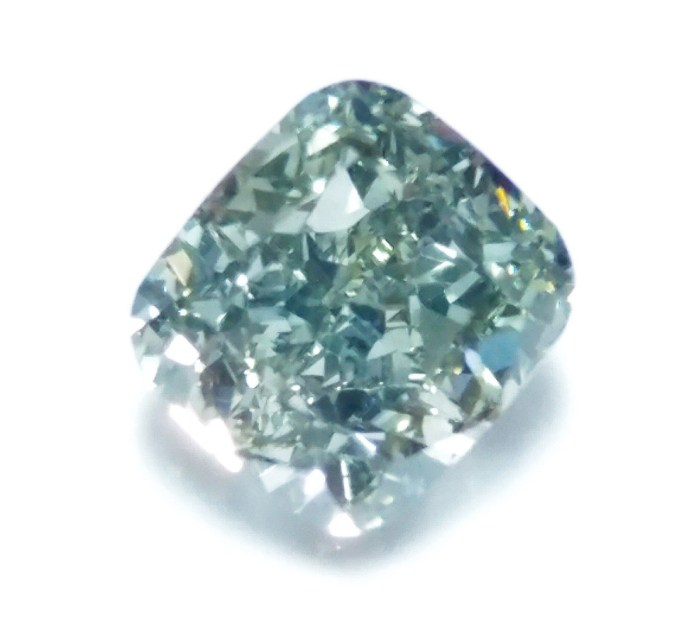 1.02ct Green Diamond - Natural Loose Fancy Gray Green Color GIA Cushion SI1
