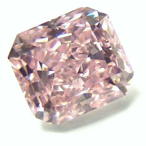 0.62ct Pink Diamond - Natural Loose Fancy Purplish Pink Color GIA Radiant SI1