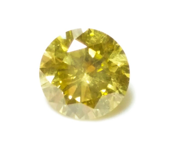 0.70ct Yellow Diamond - Natural Loose Fancy Intense Yellow Color GIA Round