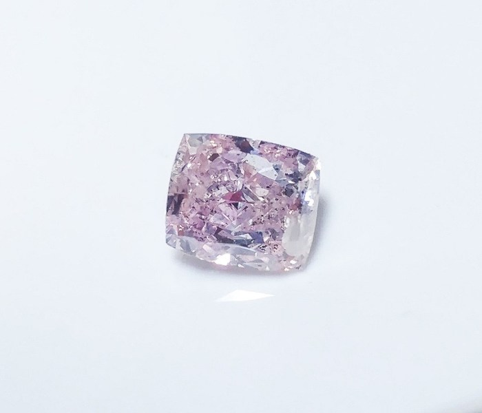 0.76 CT Pink Diamond - Natural Loose Fancy Pink Purple Color GIA Cushion SI2
