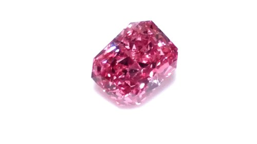 0.17ct Natural Loose Fancy Vivid Purplish Pink Color Diamond GIA SI1 Radiant