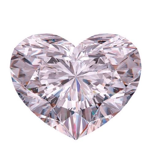 VVS1 0.71ct Pink Diamond - Natural Loose Fancy Faint Pink GIA Certified Heart