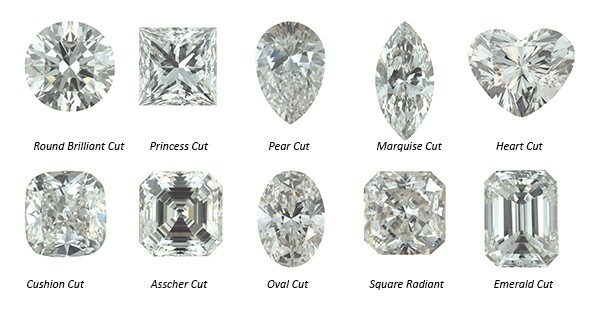 Diamonds hapes -