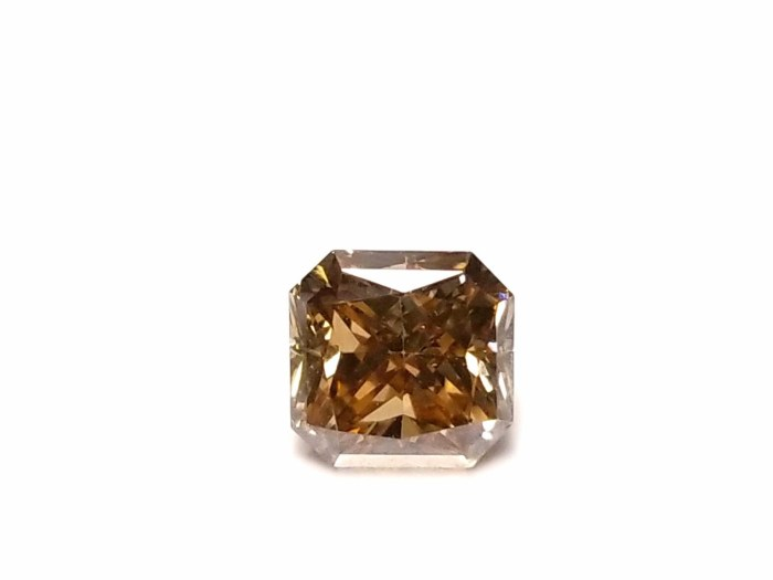 Whiskey 1.04ct Natural Loose Real Fancy Brown Diamond Radiant Cut VS1 For Ring