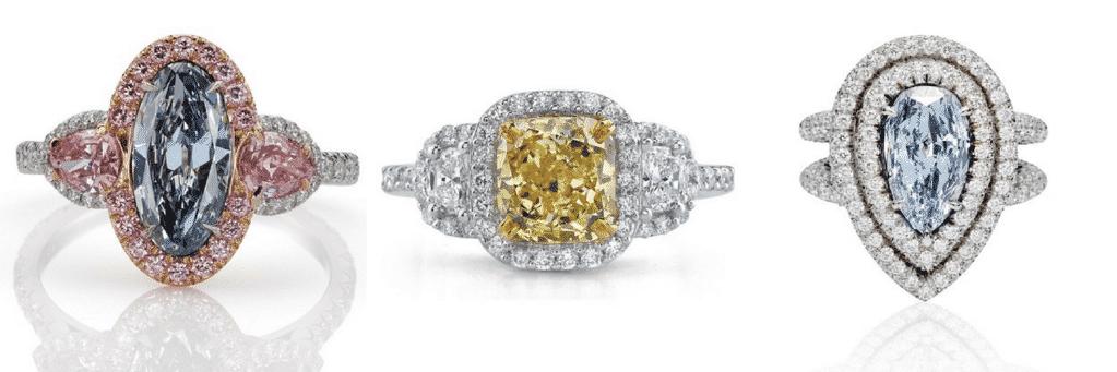 color diamond rings