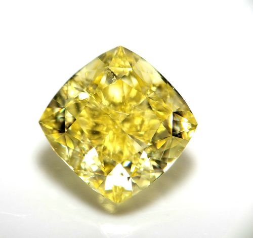 1.20ct Natural Loose Fancy Intense Yellow Color Diamond GIA VS1 Cushion