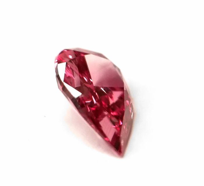Real 0.26ct Natural Loose Fancy Vivid Purple Pink Color Diamond GIA Pear SI2