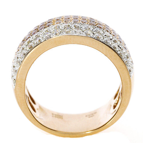 Real 1.28ct Natural Fancy Pink Diamonds Engagement Ring 18K Solid Gold 6G Band