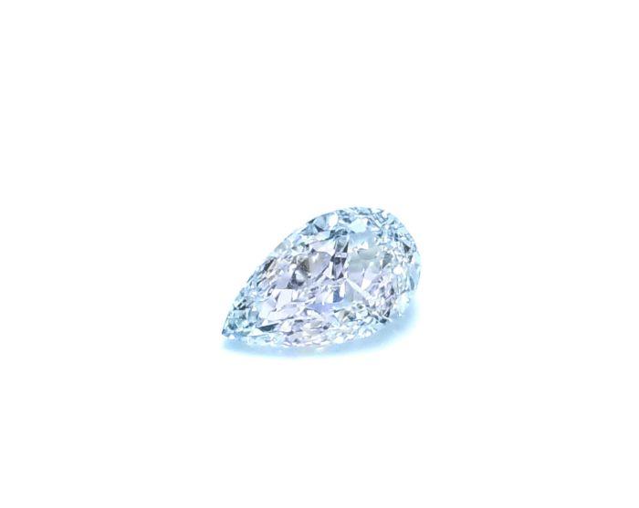 Real 0.46ct Natural Loose Fancy Light Blue Color Diamond GIA VS2 Pear Shape